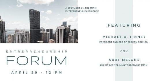 Entrepreneurship Forum with Abby Melone & Michael A. Finney