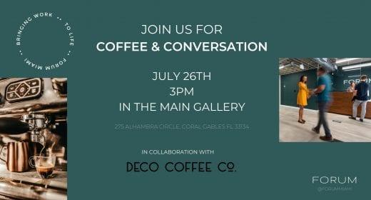 Coffee & Conversation with Deco Coffee