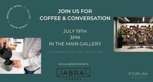 Coffee & Conversation with ABRA Coffee